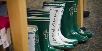 Photo of USF decorated boots
